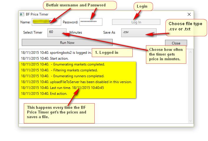 Betfair timer tool help