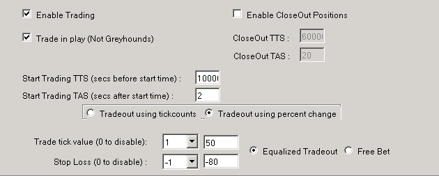 GHBot trade out settings